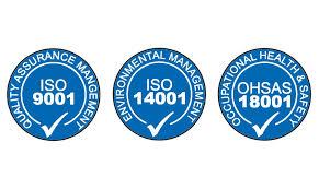 استانداردهای مدیریتی ISO9001 و ISO14001 و OHSAS18001